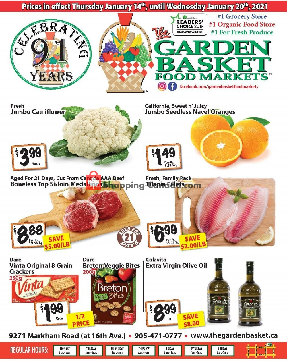 Flyer The Garden Basket Canada - from Thursday January 14, 2021 to Wednesday January 20, 2021