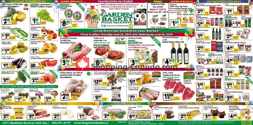 Flyer The Garden Basket Canada - from Thursday June 20, 2019 to Wednesday June 26, 2019