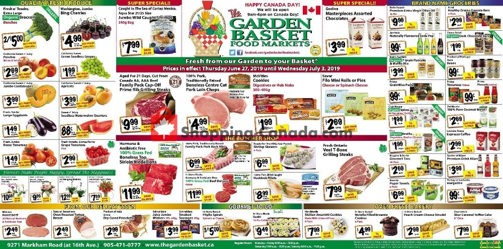 Flyer The Garden Basket Canada - from Thursday June 27, 2019 to Wednesday July 3, 2019