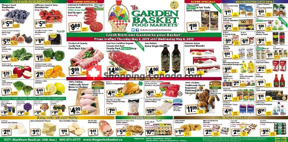 Flyer The Garden Basket Canada - from Thursday May 2, 2019 to Wednesday May 8, 2019