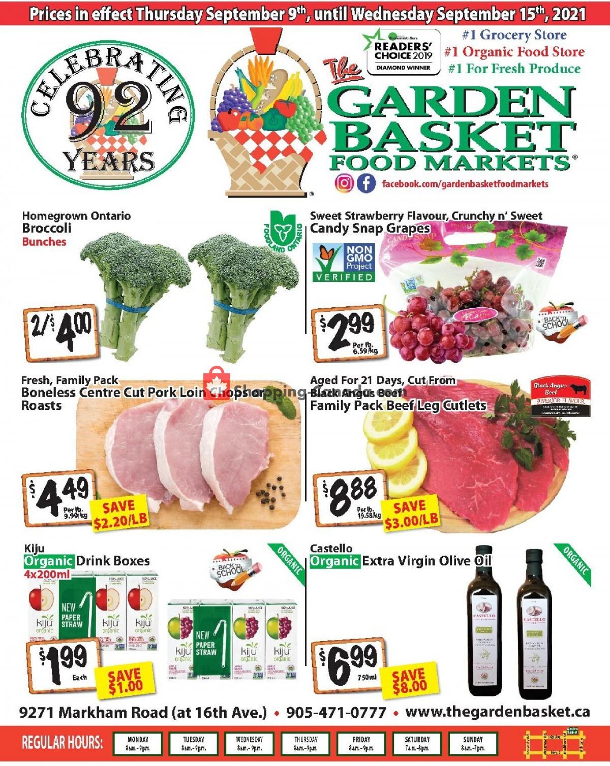 Flyer The Garden Basket Canada - from Thursday September 9, 2021 to Wednesday September 15, 2021