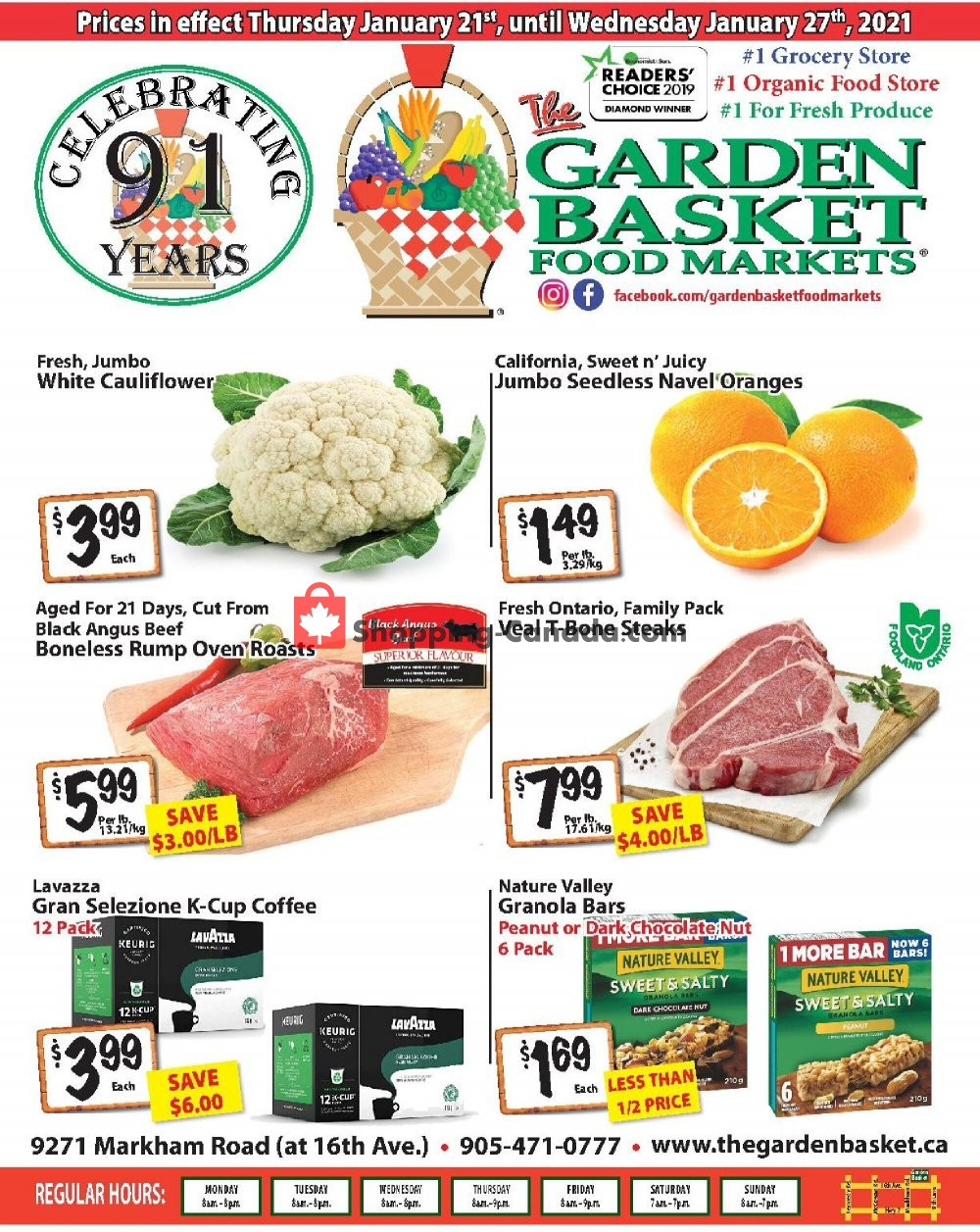 Flyer The Garden Basket Canada - from Thursday January 21, 2021 to Wednesday January 27, 2021