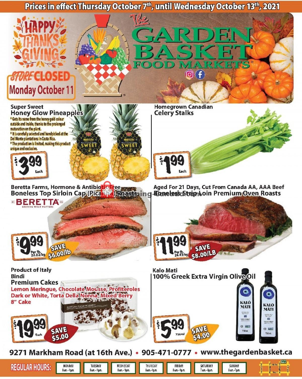 Flyer The Garden Basket Canada - from Thursday October 7, 2021 to Wednesday October 13, 2021
