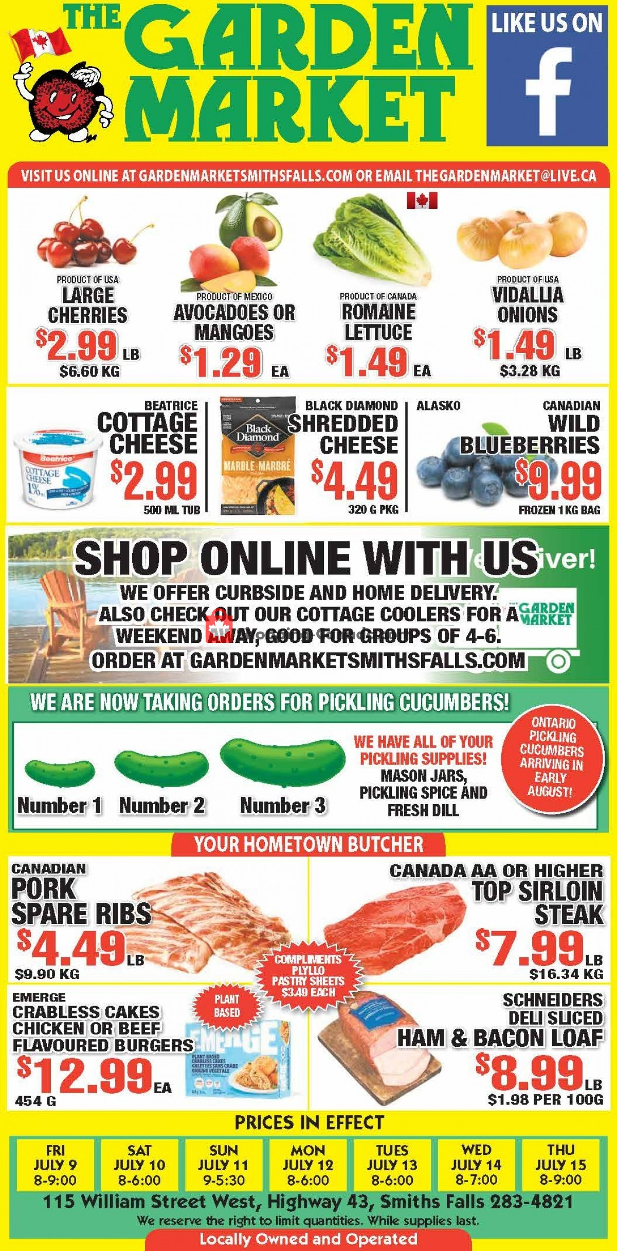 Flyer The Garden Market Canada - from Friday July 9, 2021 to Thursday July 15, 2021