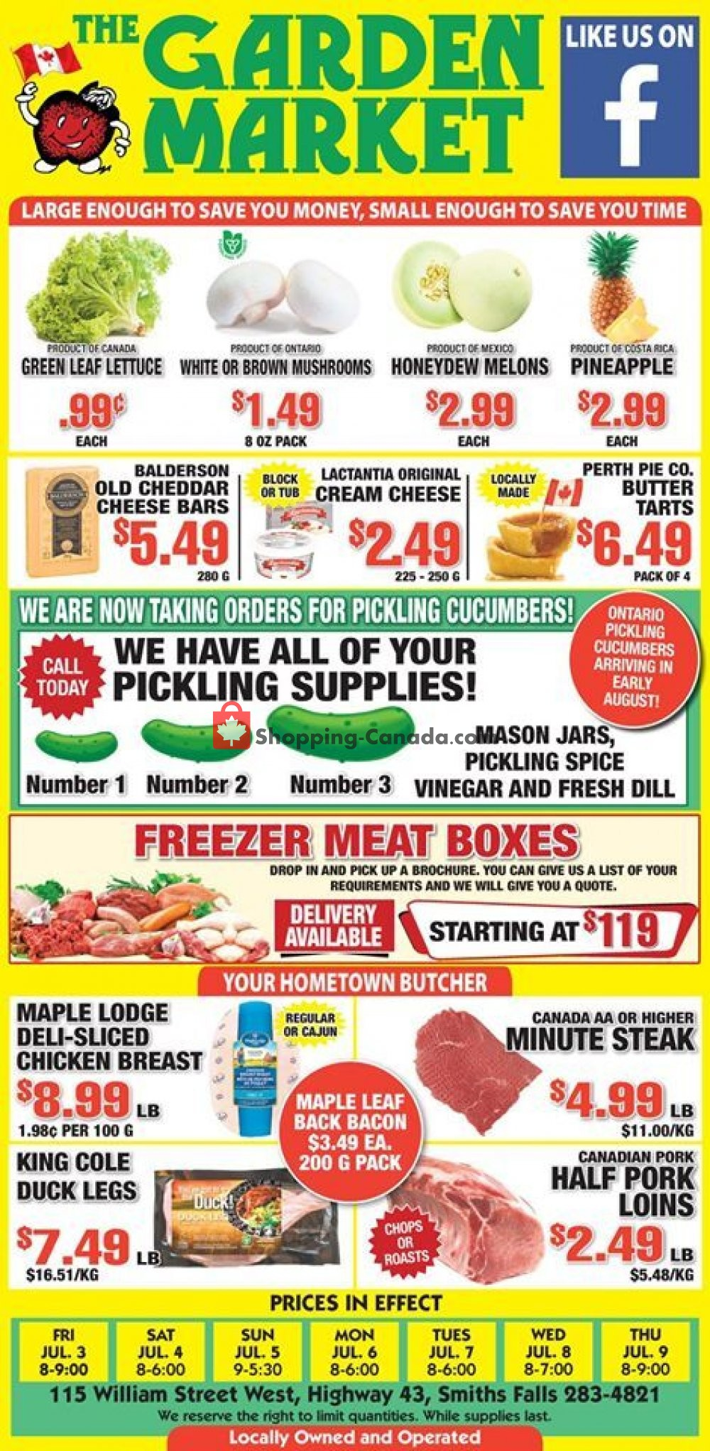 Flyer The Garden Market Canada - from Friday July 3, 2020 to Thursday July 9, 2020