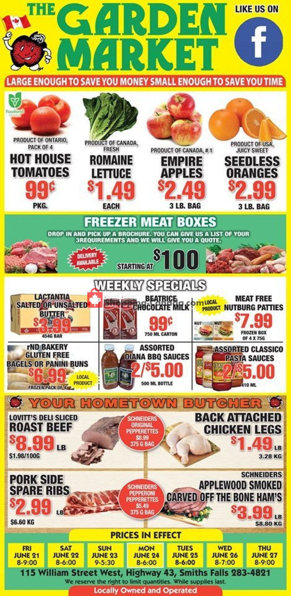 Flyer The Garden Market Canada - from Friday June 21, 2019 to Thursday June 27, 2019