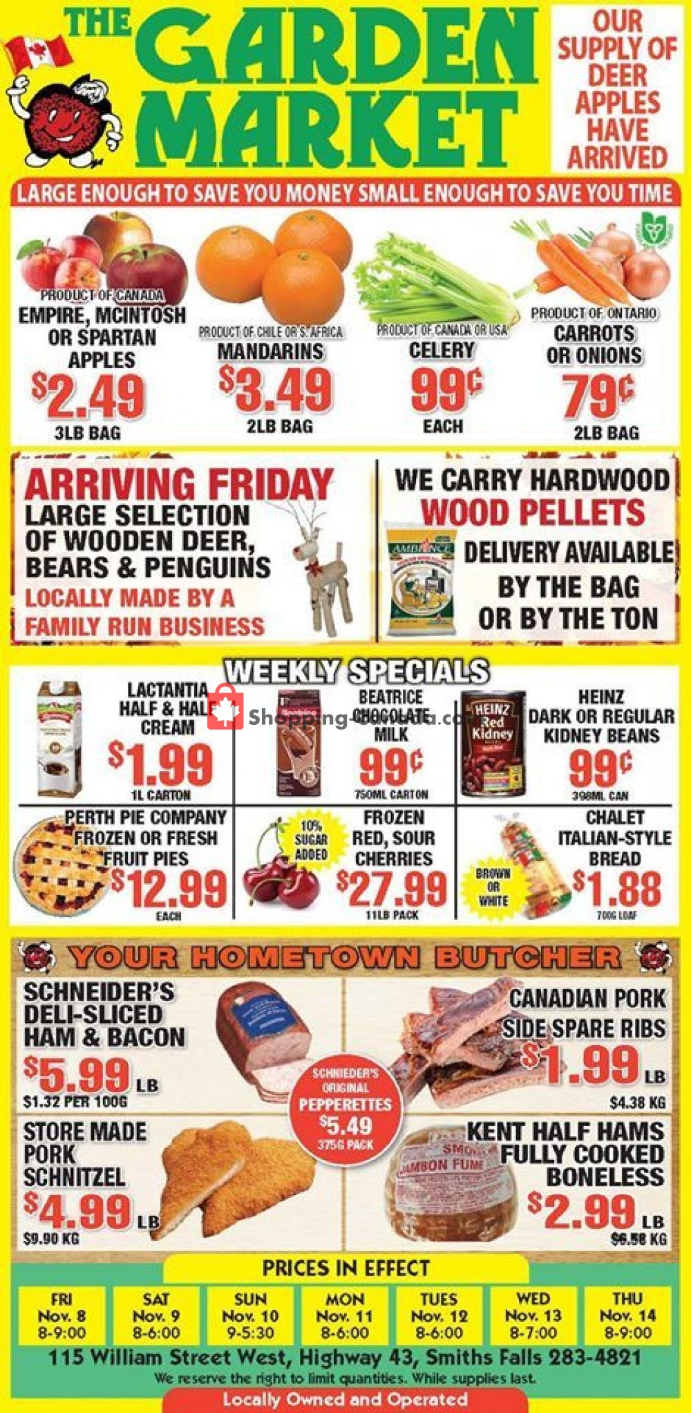 Flyer The Garden Market Canada - from Friday November 8, 2019 to Thursday November 14, 2019