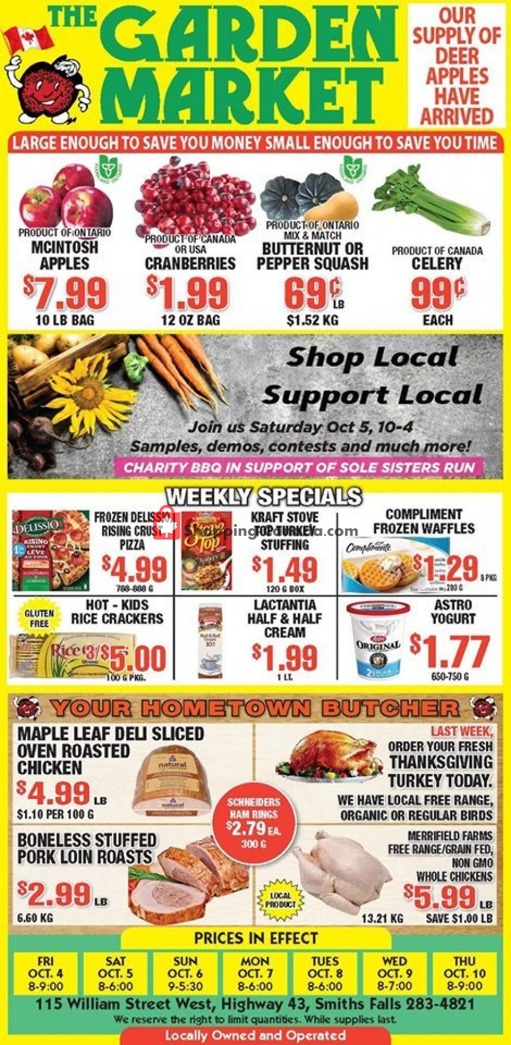 Flyer The Garden Market Canada - from Friday October 4, 2019 to Thursday October 10, 2019