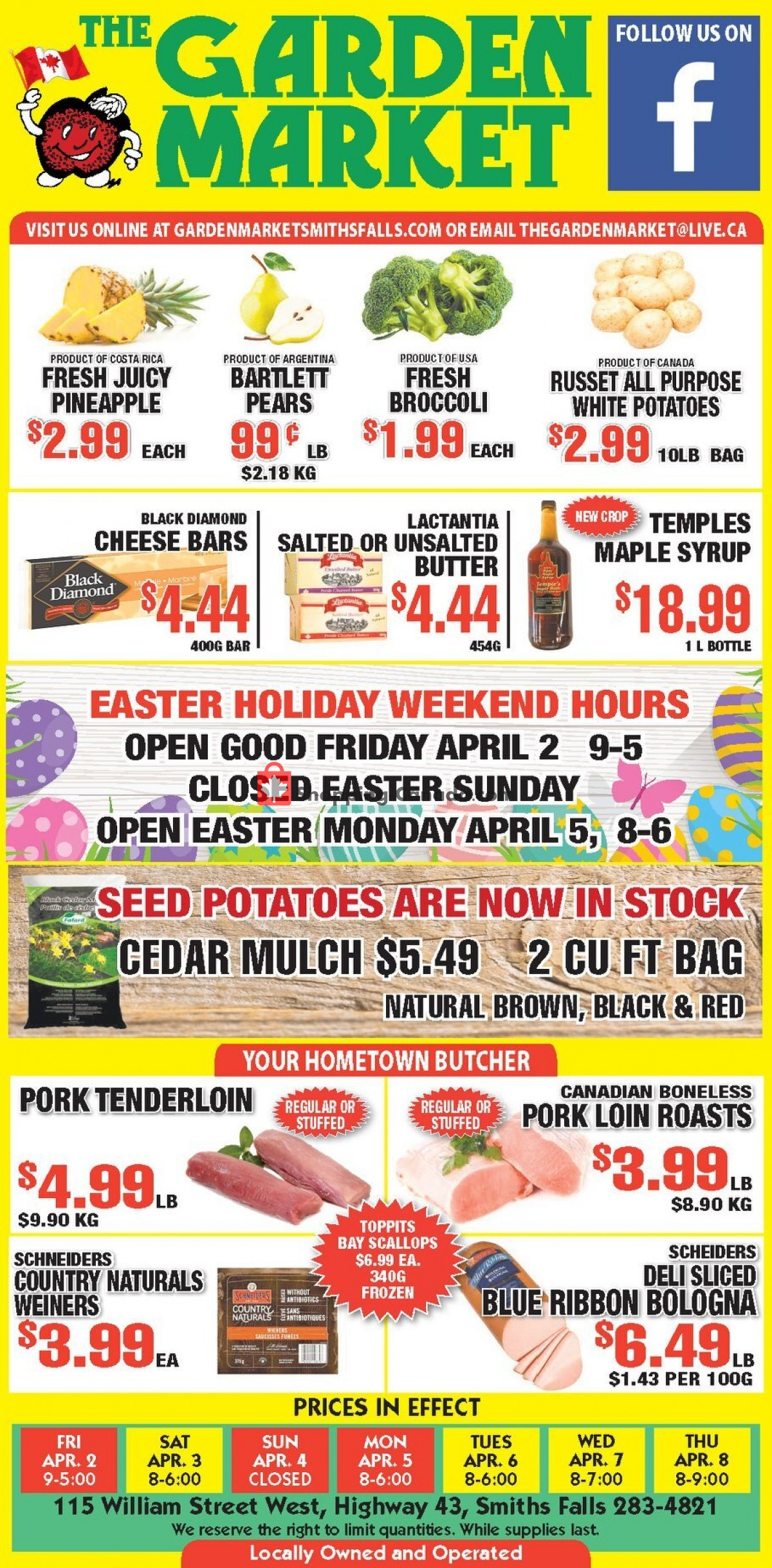 Flyer The Garden Market Canada - from Friday April 2, 2021 to Thursday April 8, 2021