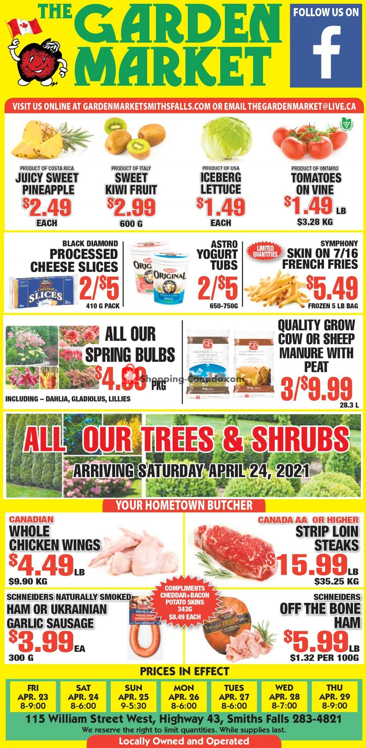 Flyer The Garden Market Canada - from Friday April 23, 2021 to Thursday April 29, 2021