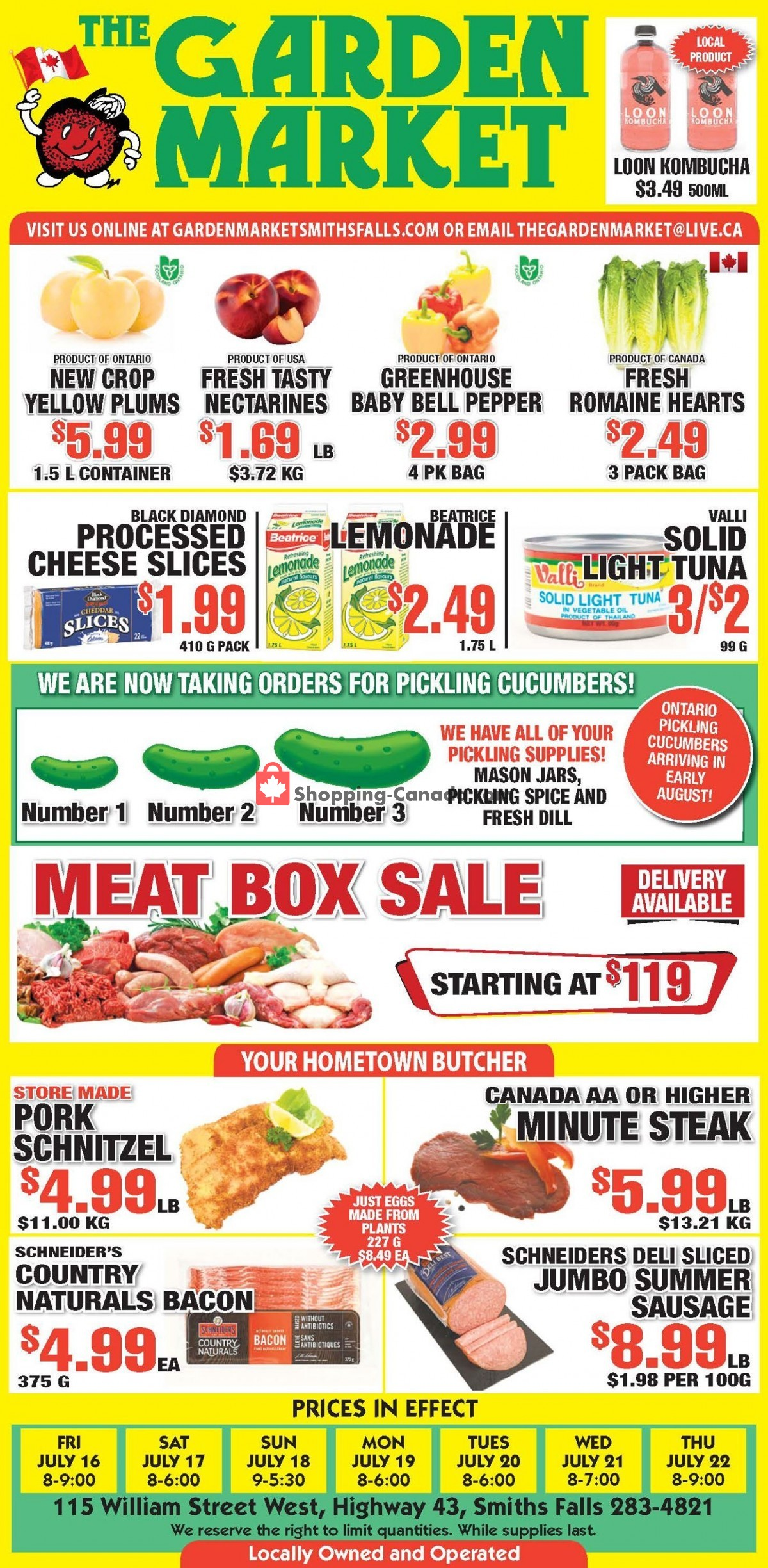Flyer The Garden Market Canada - from Friday July 16, 2021 to Thursday July 22, 2021