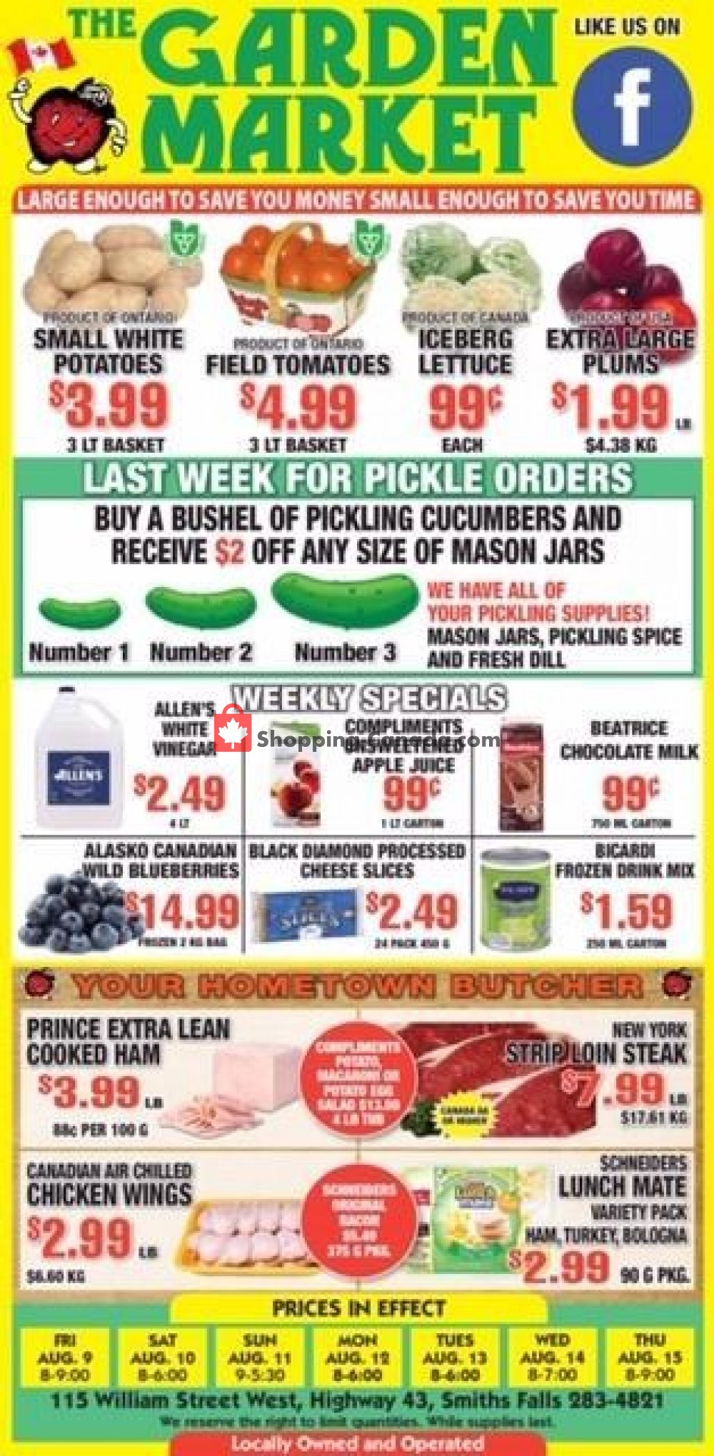 Flyer The Garden Market Canada - from Friday August 9, 2019 to Thursday August 15, 2019