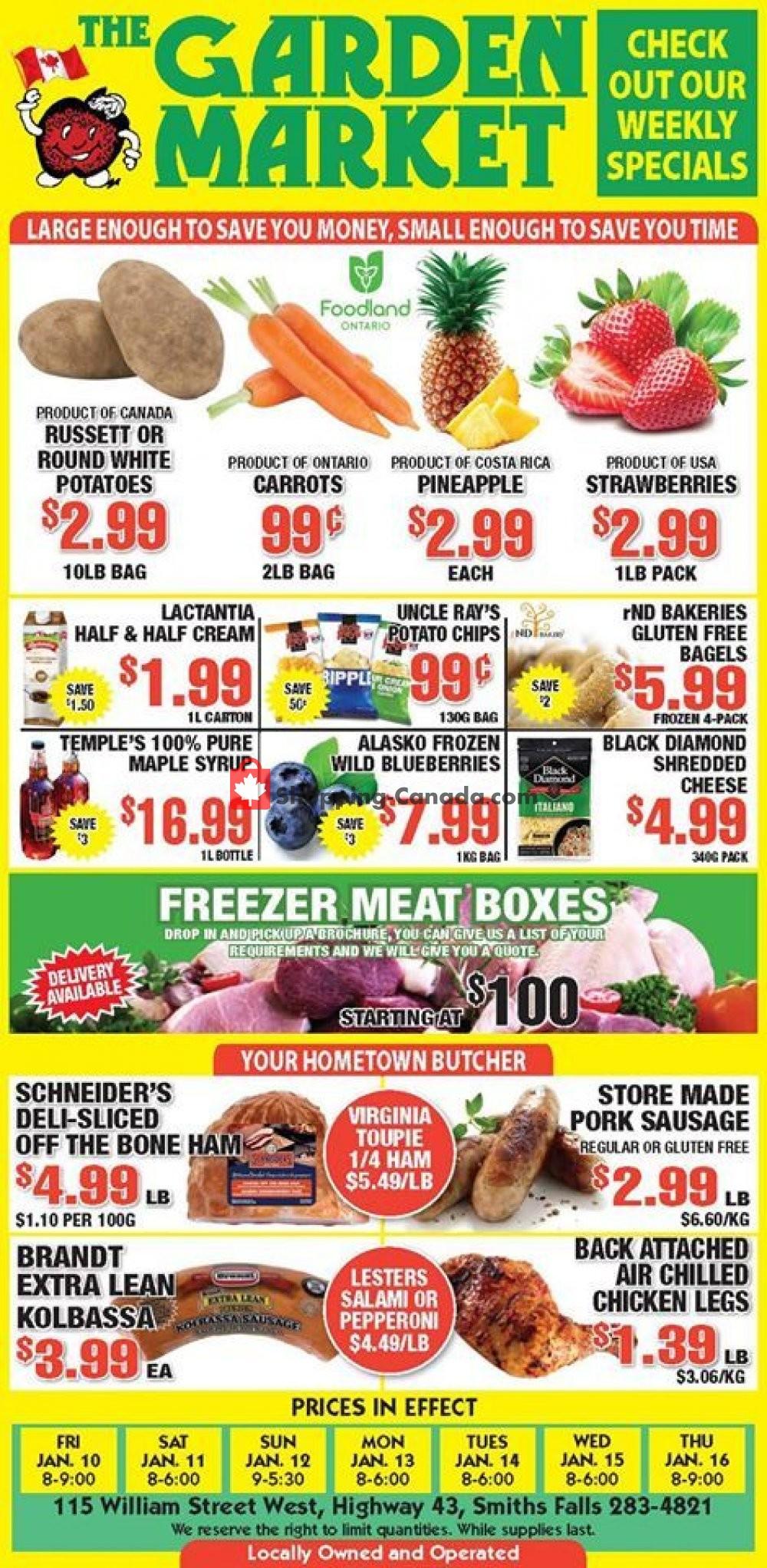 Flyer The Garden Market Canada - from Friday January 10, 2020 to Thursday January 16, 2020