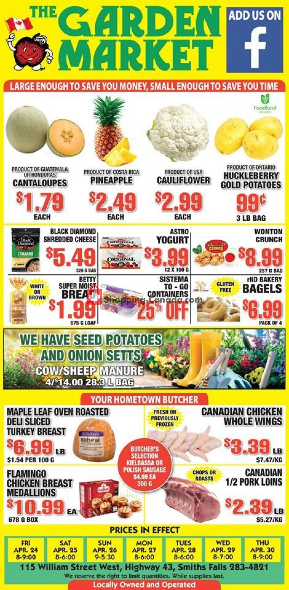 Flyer The Garden Market Canada - from Friday April 24, 2020 to Thursday April 30, 2020