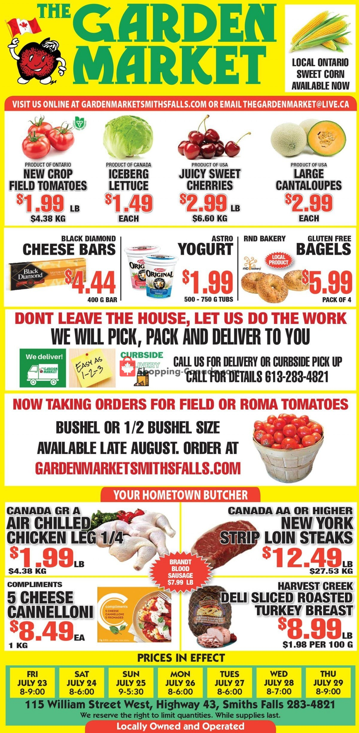 Flyer The Garden Market Canada - from Friday July 23, 2021 to Thursday July 29, 2021
