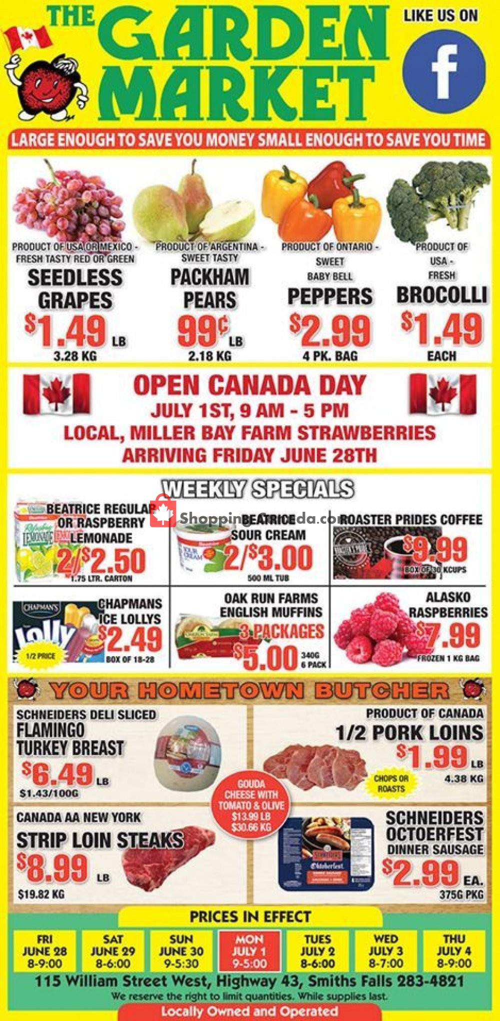 Flyer The Garden Market Canada - from Friday June 28, 2019 to Thursday July 4, 2019