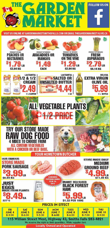 Flyer The Garden Market Canada - from Friday June 4, 2021 to Thursday June 10, 2021