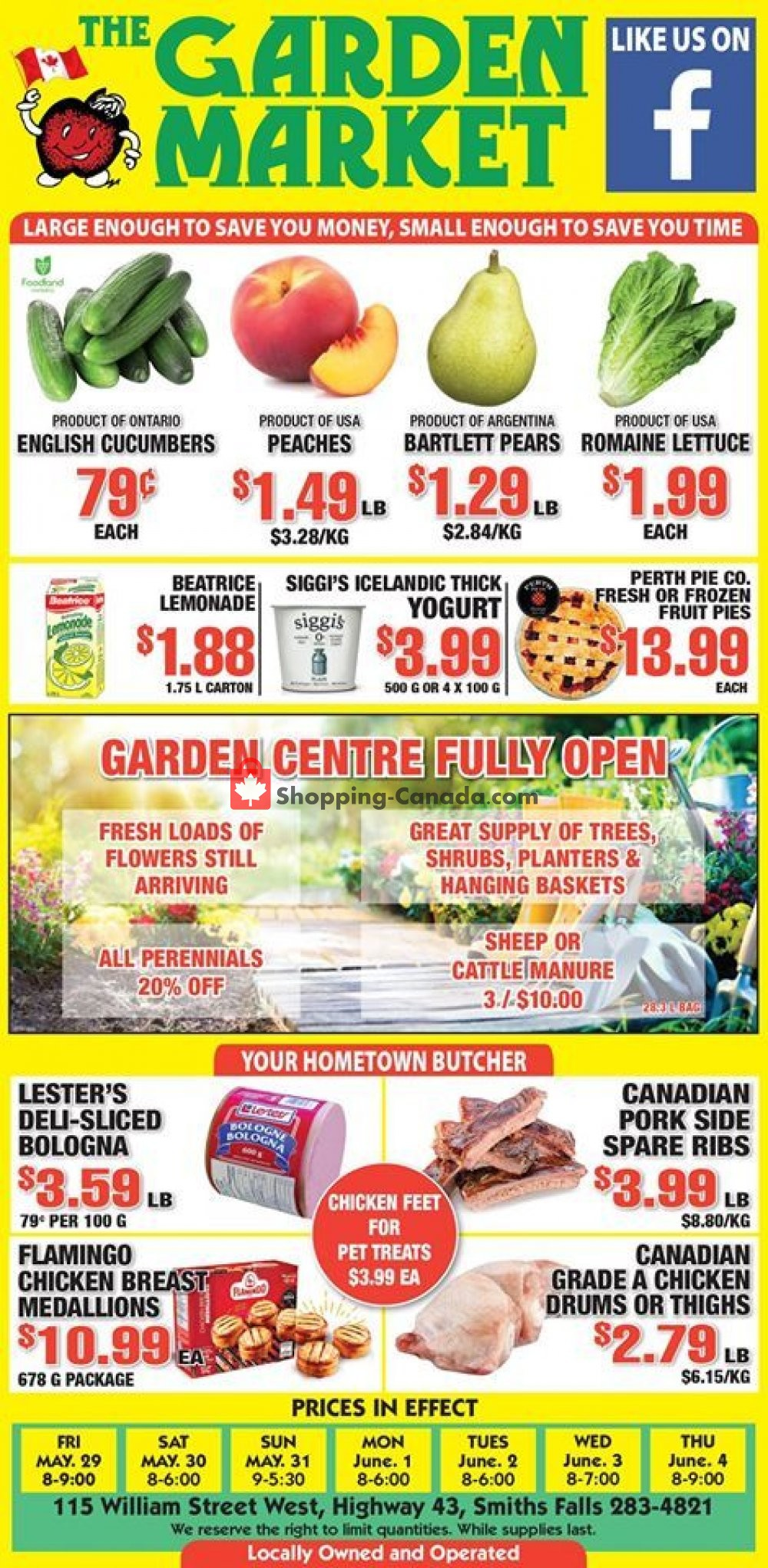 Flyer The Garden Market Canada - from Friday May 29, 2020 to Thursday June 4, 2020