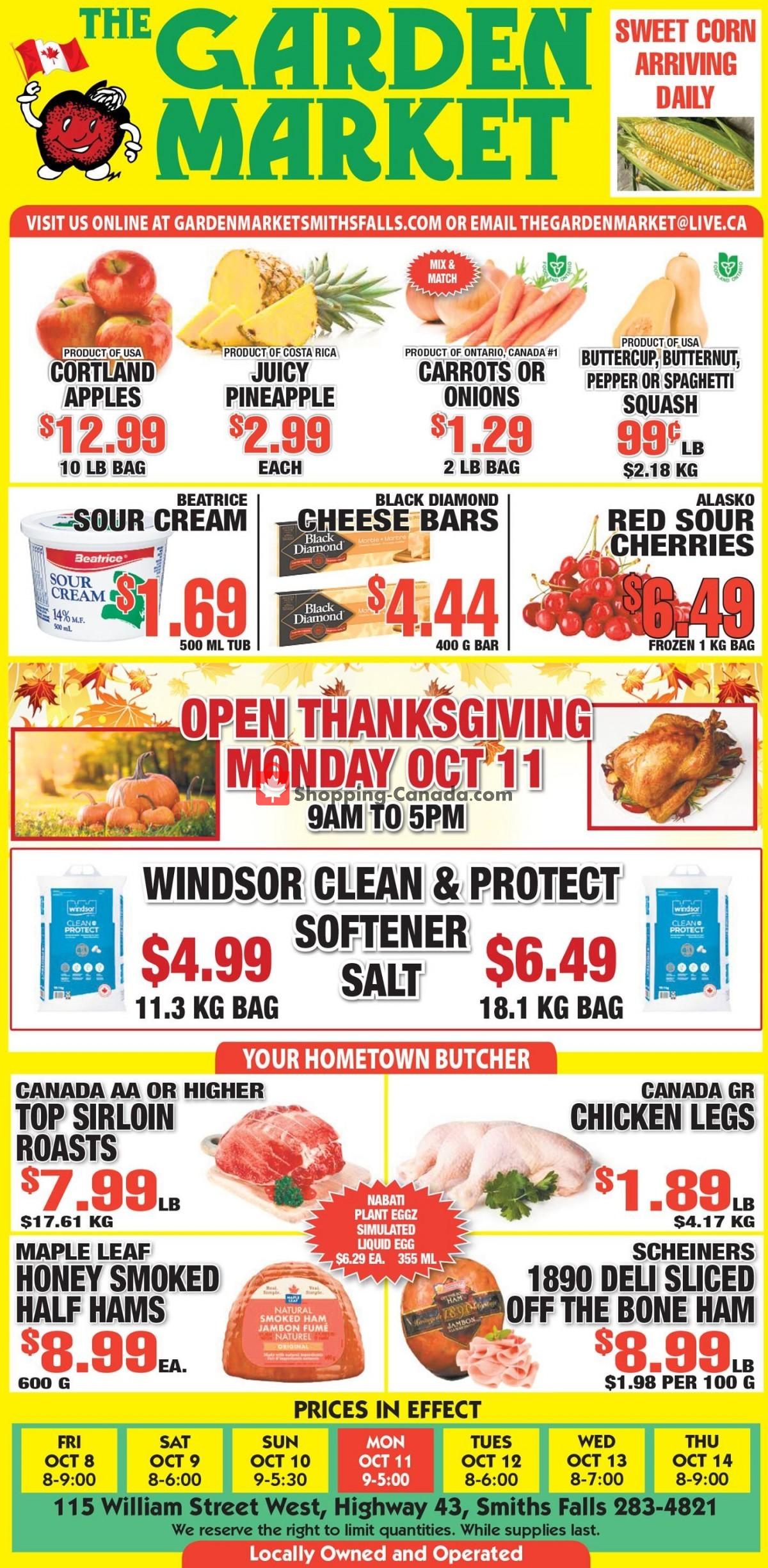 Flyer The Garden Market Canada - from Friday October 8, 2021 to Thursday October 14, 2021