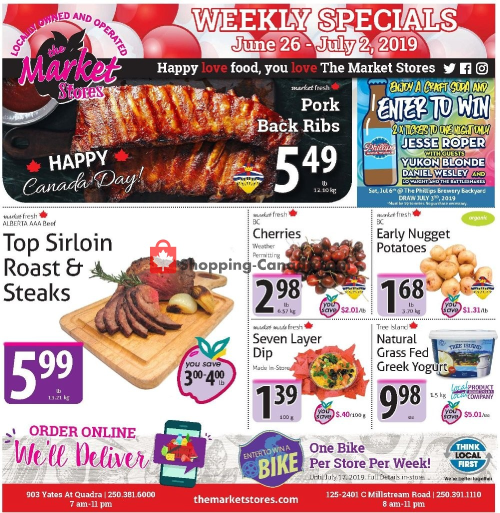 Flyer The Market Stores Canada - from Wednesday June 26, 2019 to Tuesday July 2, 2019