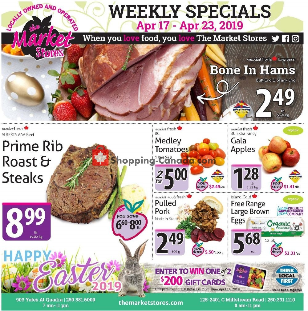 Flyer The Market Stores Canada - from Wednesday April 17, 2019 to Tuesday April 23, 2019