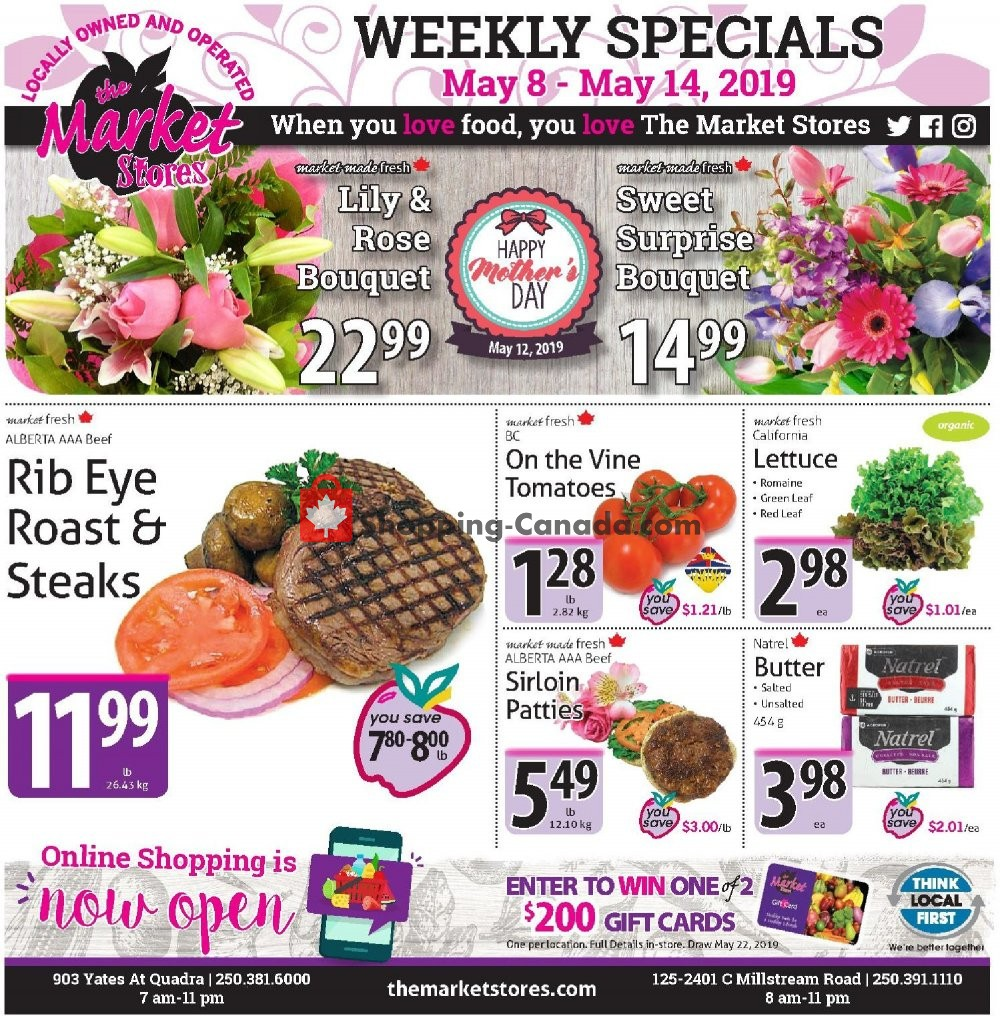 Flyer The Market Stores Canada - from Wednesday May 8, 2019 to Tuesday May 14, 2019