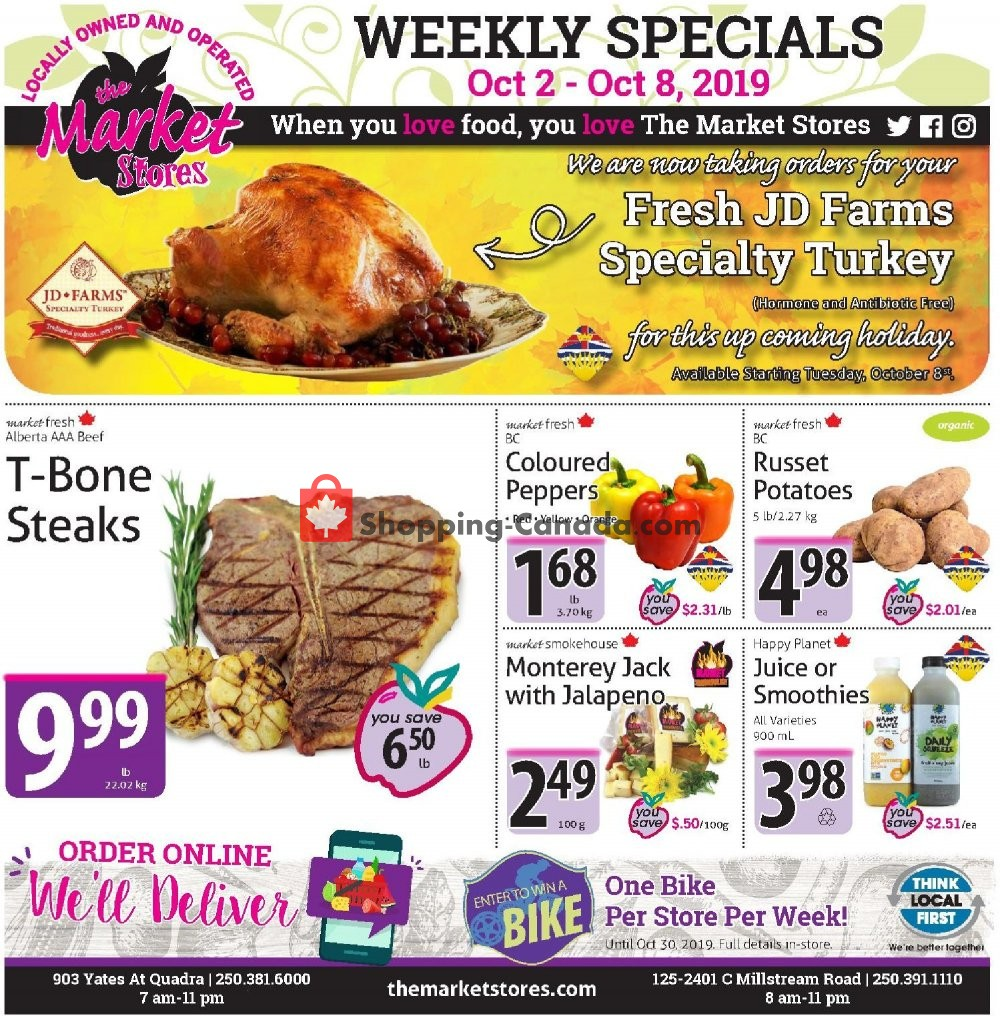 Flyer The Market Stores Canada - from Wednesday October 2, 2019 to Tuesday October 8, 2019