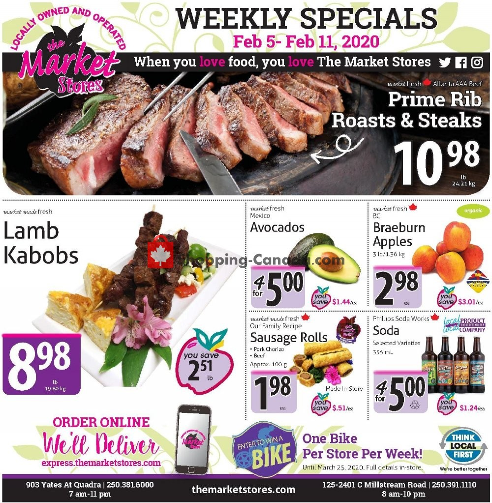Flyer The Market Stores Canada - from Wednesday February 5, 2020 to Tuesday February 11, 2020