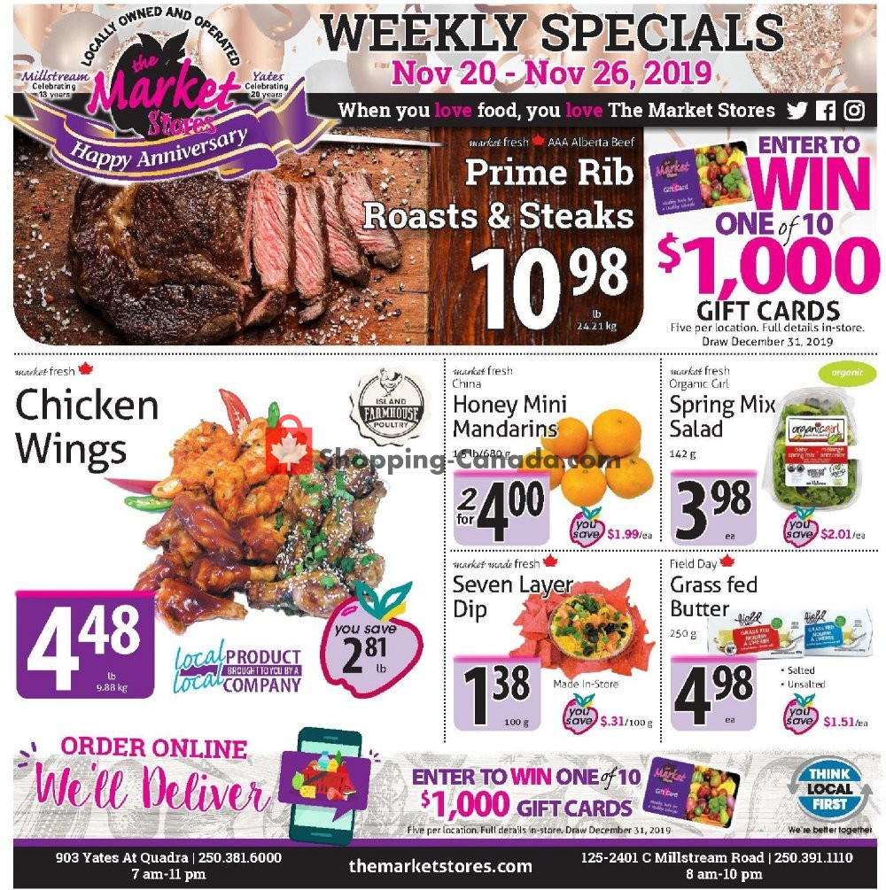 Flyer The Market Stores Canada - from Wednesday November 20, 2019 to Tuesday November 26, 2019