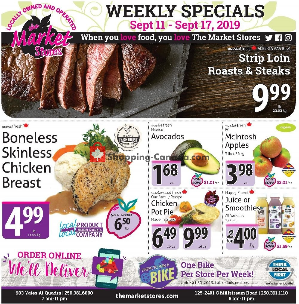 Flyer The Market Stores Canada - from Wednesday September 11, 2019 to Tuesday September 17, 2019