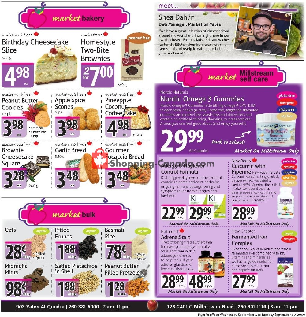 Flyer The Market Stores Canada - from Wednesday September 4, 2019 to Tuesday September 10, 2019