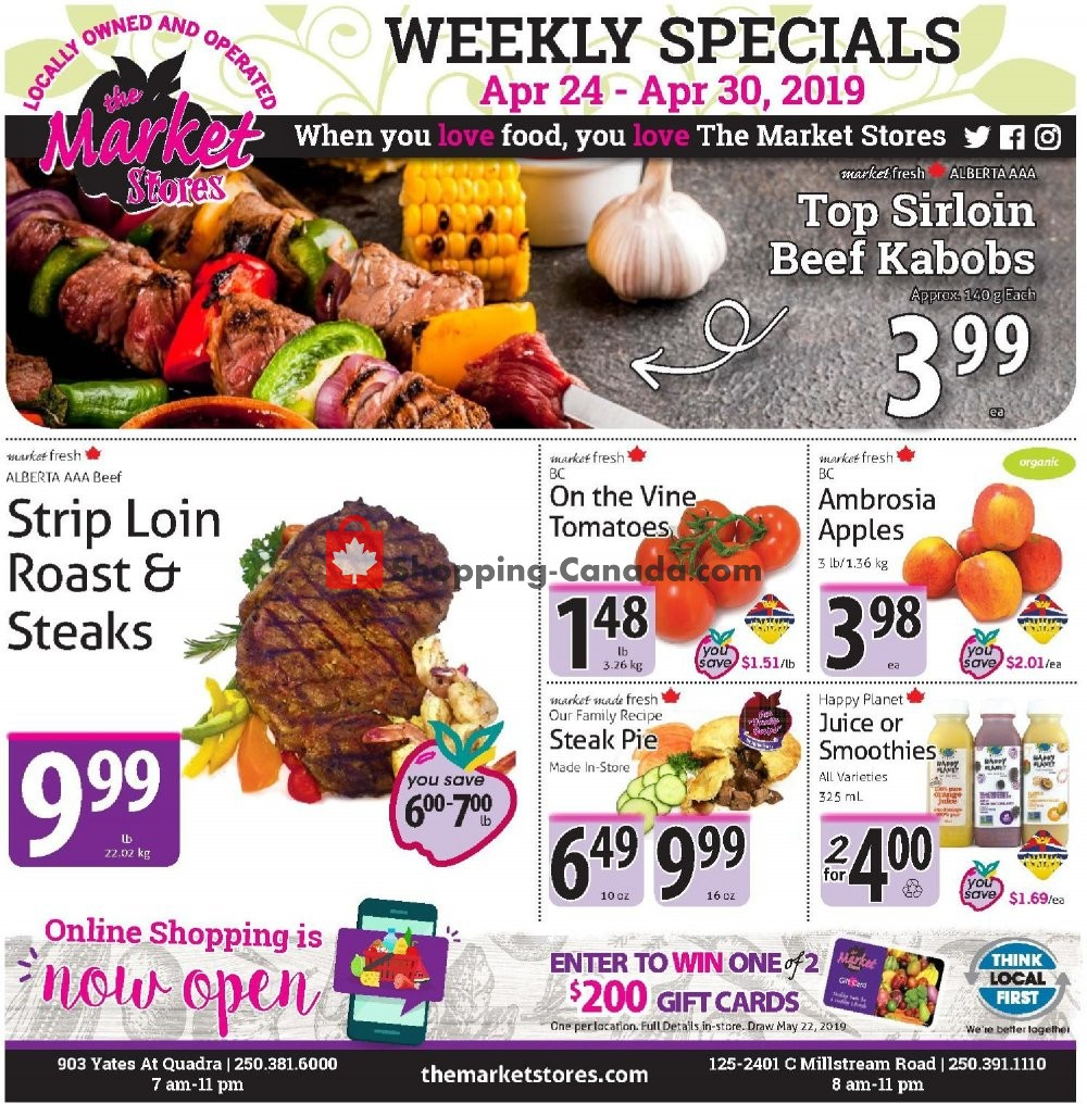 Flyer The Market Stores Canada - from Wednesday April 24, 2019 to Tuesday April 30, 2019