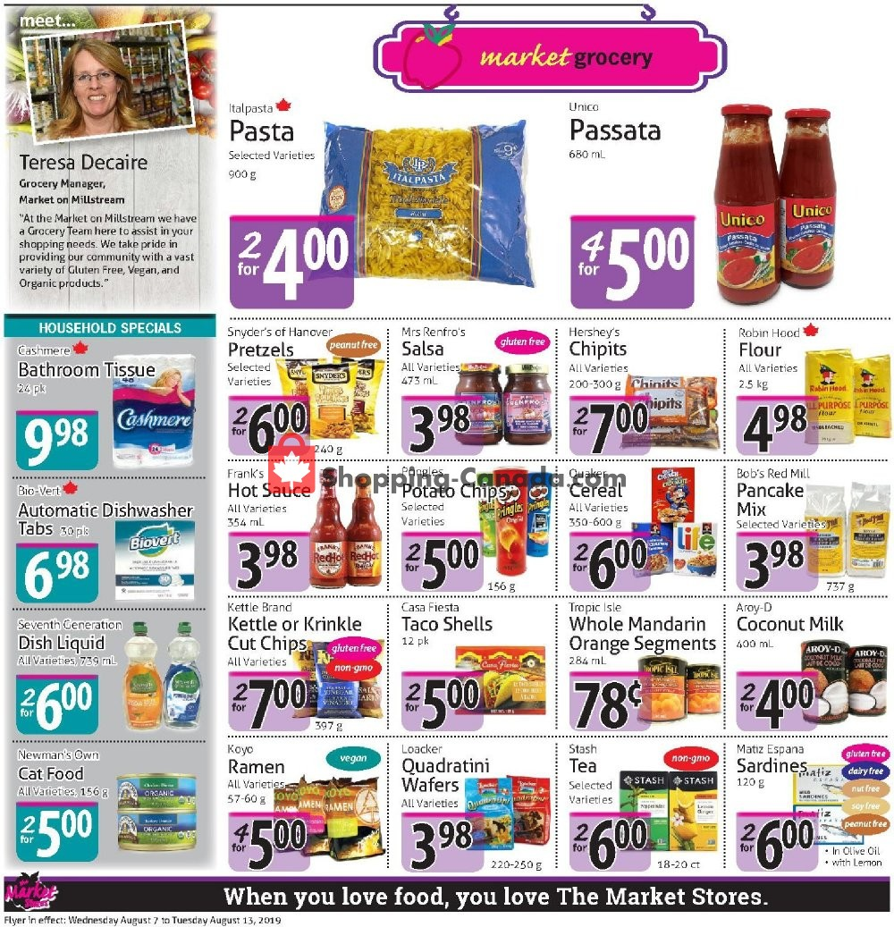 Flyer The Market Stores Canada - from Wednesday August 7, 2019 to Tuesday August 13, 2019