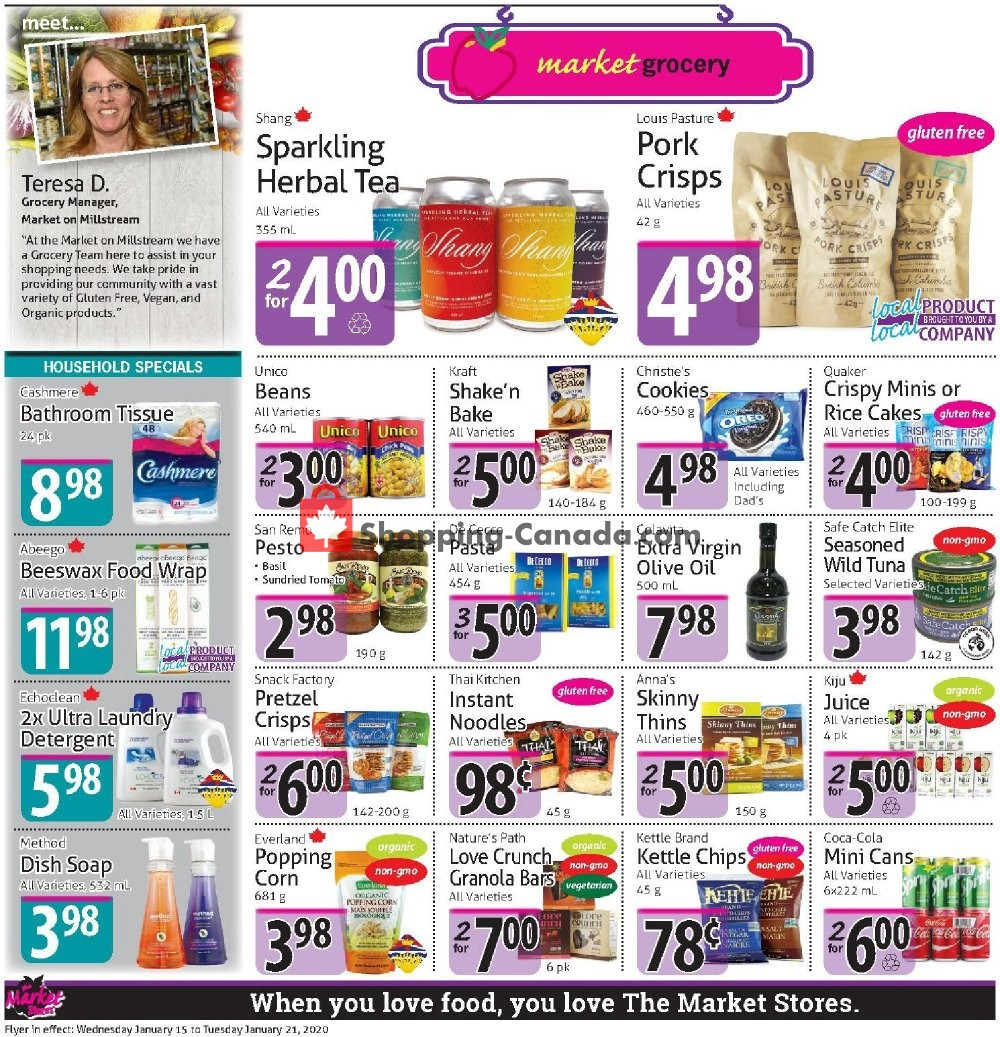 Flyer The Market Stores Canada - from Wednesday January 15, 2020 to Tuesday January 21, 2020