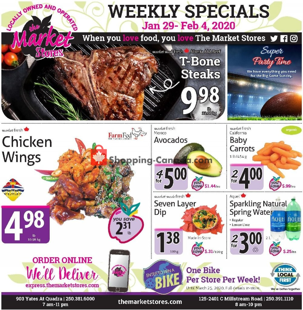 Flyer The Market Stores Canada - from Wednesday January 29, 2020 to Tuesday February 4, 2020