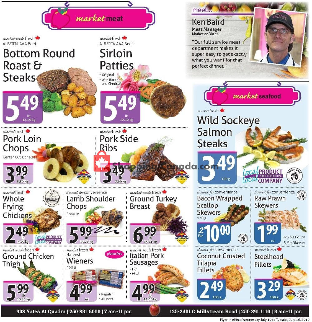 Flyer The Market Stores Canada - from Wednesday July 10, 2019 to Tuesday July 16, 2019
