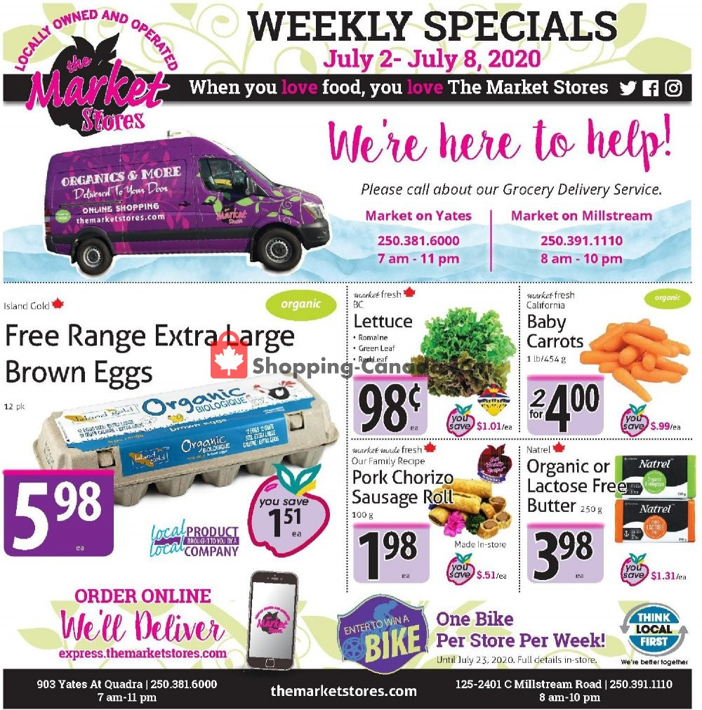 Flyer The Market Stores Canada - from Thursday July 2, 2020 to Wednesday July 8, 2020