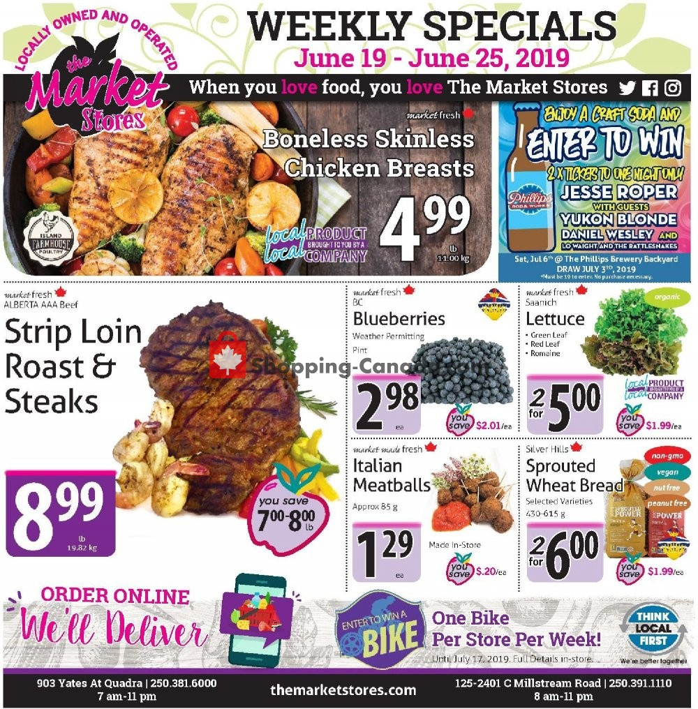 Flyer The Market Stores Canada - from Wednesday June 19, 2019 to Tuesday June 25, 2019
