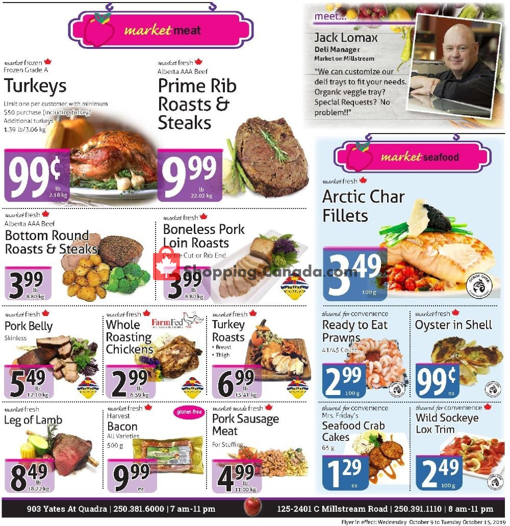 Flyer The Market Stores Canada - from Wednesday October 9, 2019 to Tuesday October 15, 2019