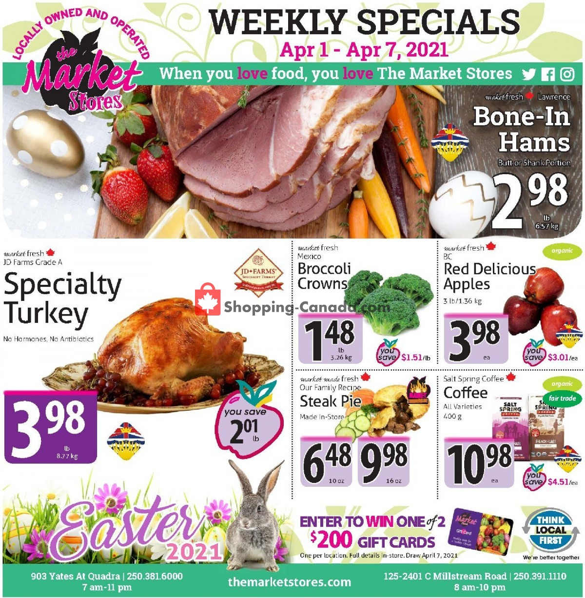 Flyer The Market Stores Canada - from Thursday April 1, 2021 to Wednesday April 7, 2021