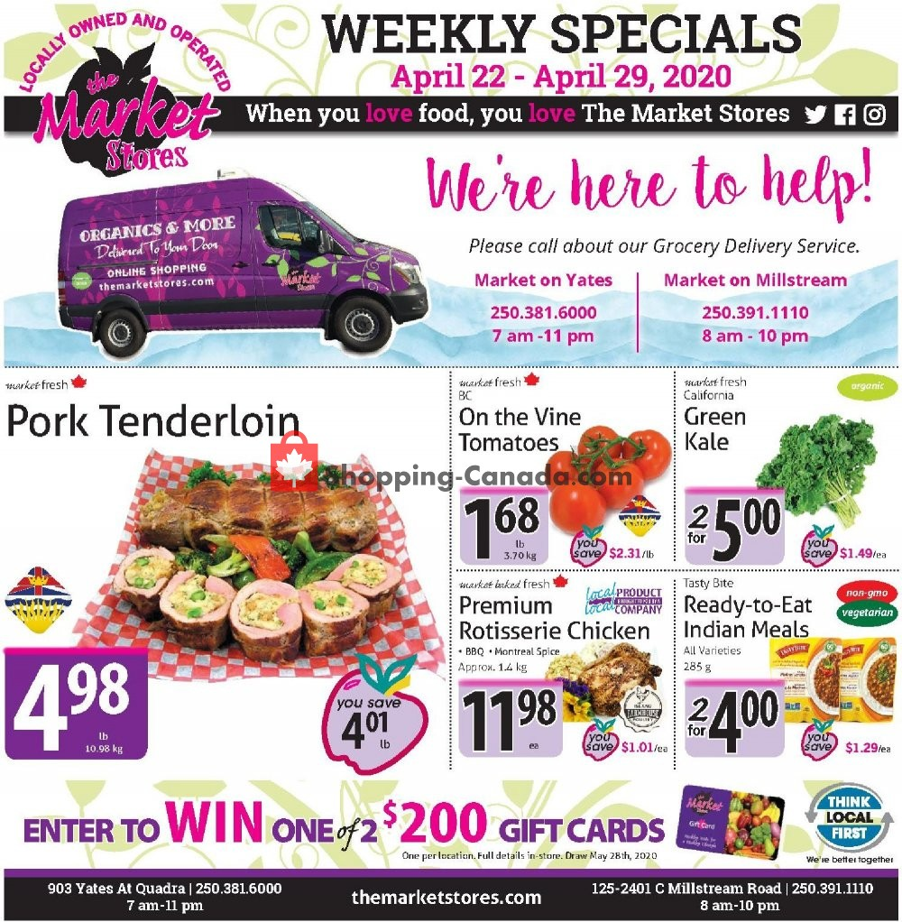 Flyer The Market Stores Canada - from Wednesday April 22, 2020 to Tuesday April 28, 2020