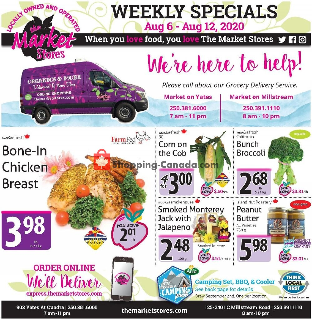 Flyer The Market Stores Canada - from Thursday August 6, 2020 to Wednesday August 12, 2020