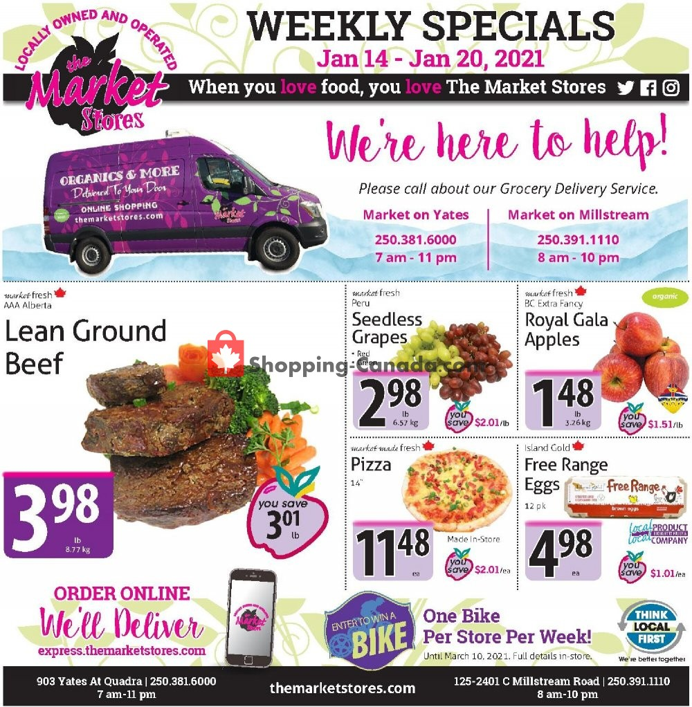Flyer The Market Stores Canada - from Thursday January 14, 2021 to Wednesday January 20, 2021