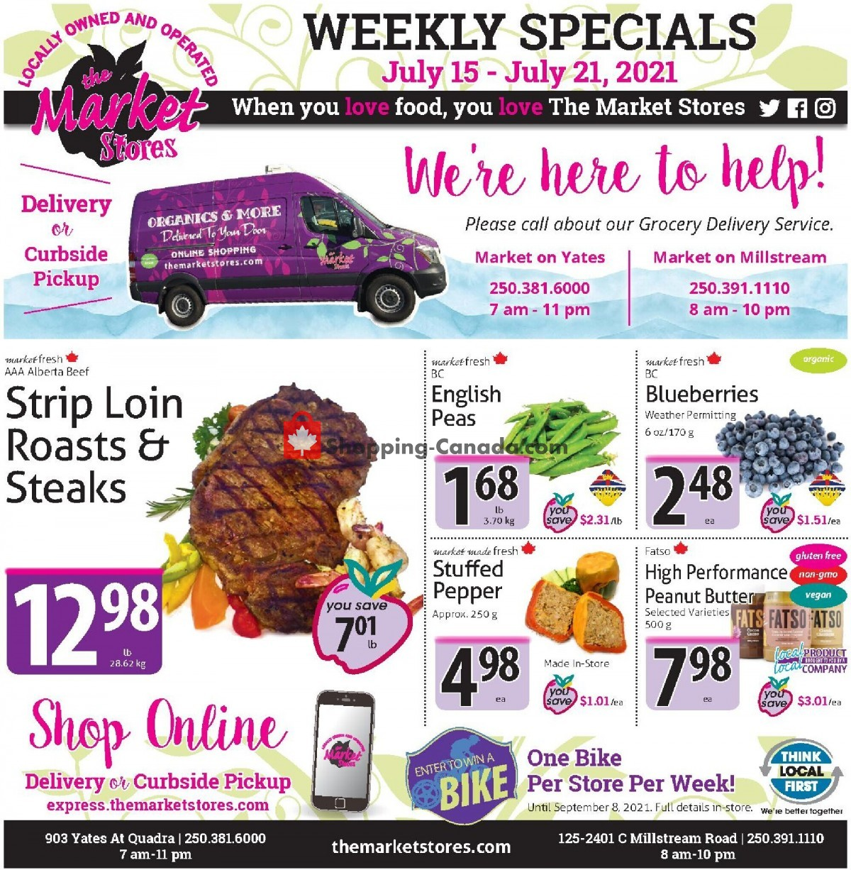 Flyer The Market Stores Canada - from Thursday July 15, 2021 to Wednesday July 21, 2021
