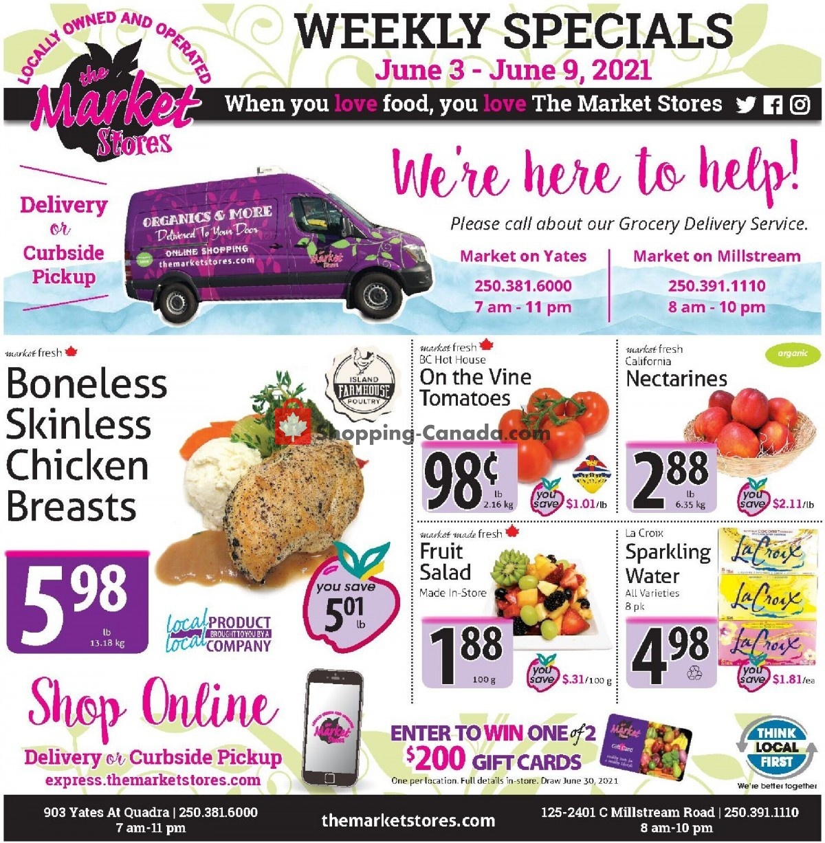 Flyer The Market Stores Canada - from Thursday June 3, 2021 to Wednesday June 9, 2021