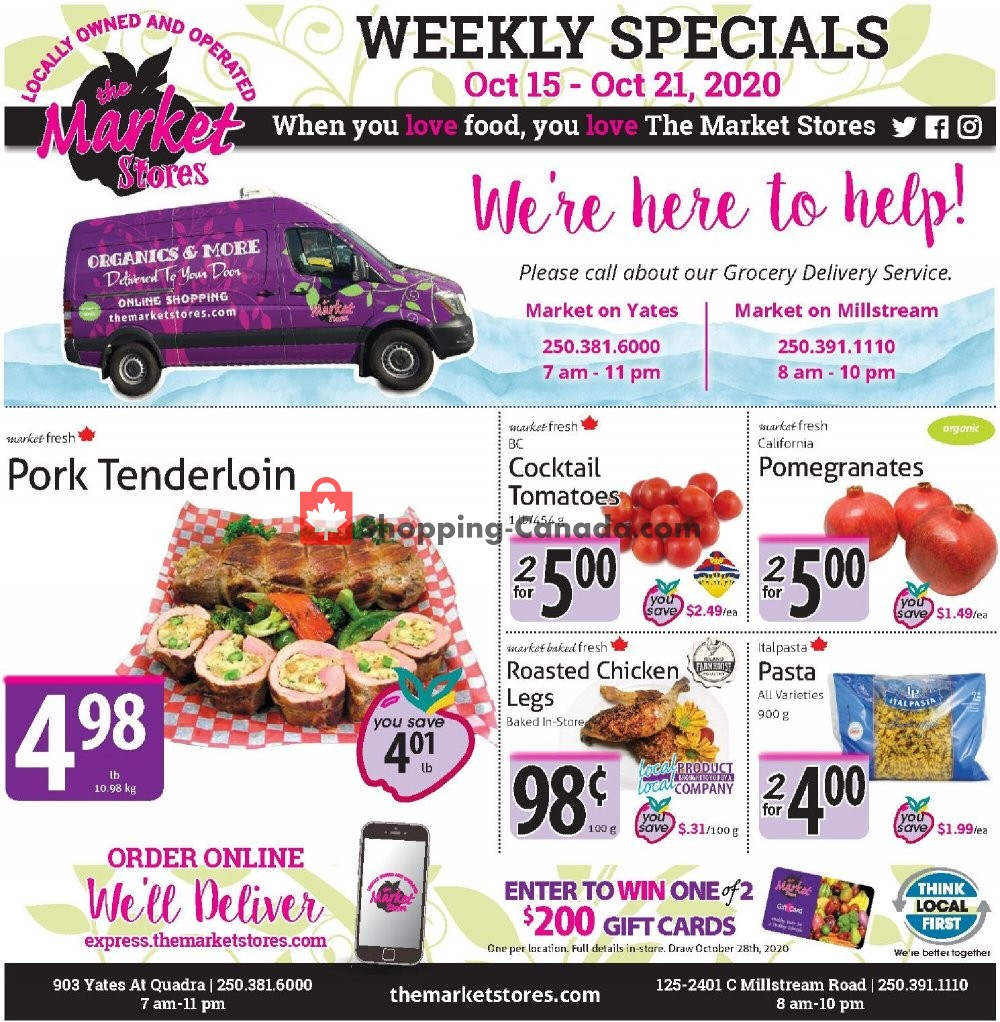 Flyer The Market Stores Canada - from Thursday October 15, 2020 to Wednesday October 21, 2020