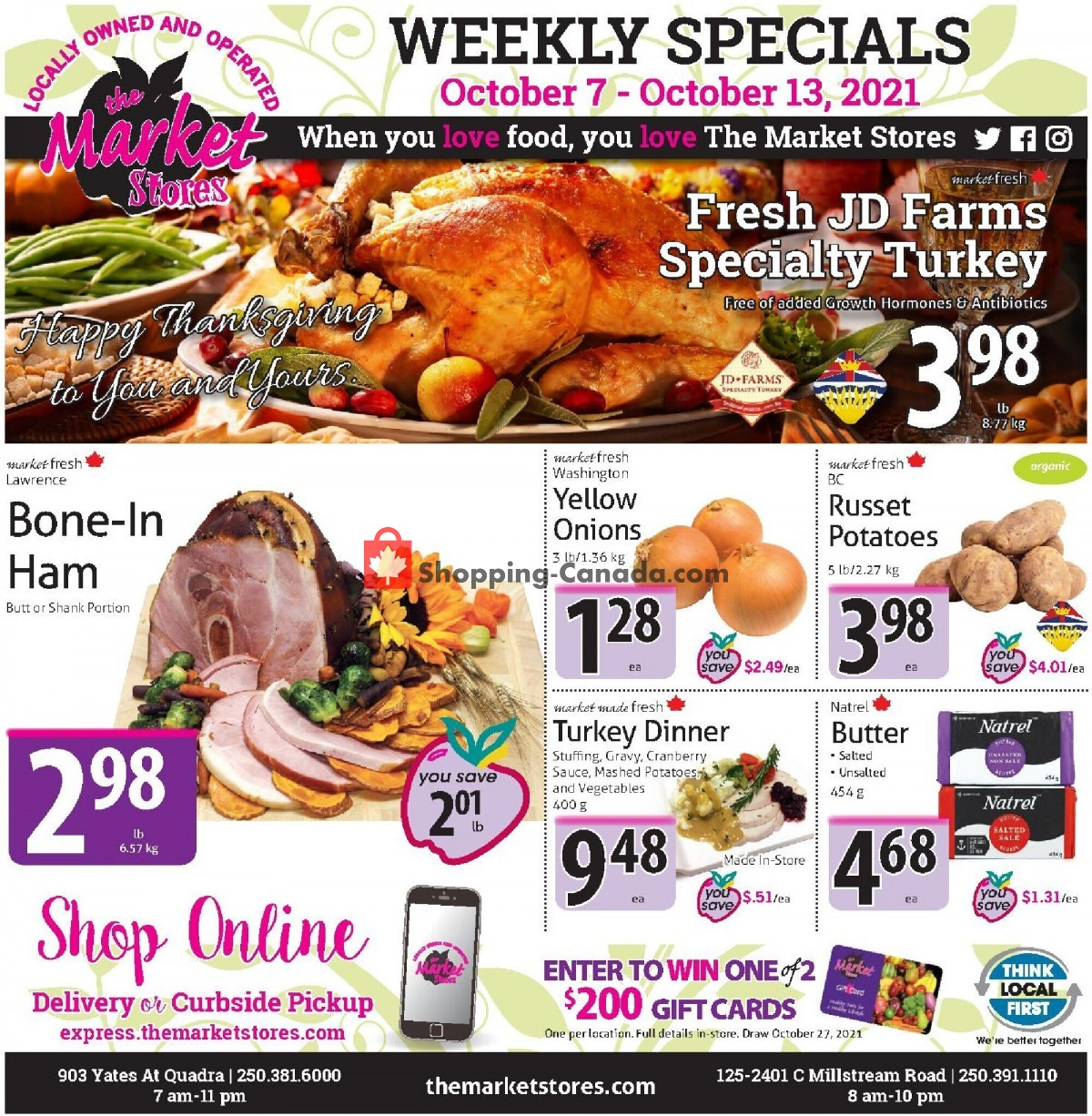 Flyer The Market Stores Canada - from Thursday October 7, 2021 to Wednesday October 13, 2021