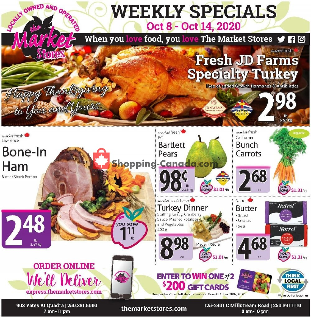 Flyer The Market Stores Canada - from Thursday October 8, 2020 to Wednesday October 14, 2020