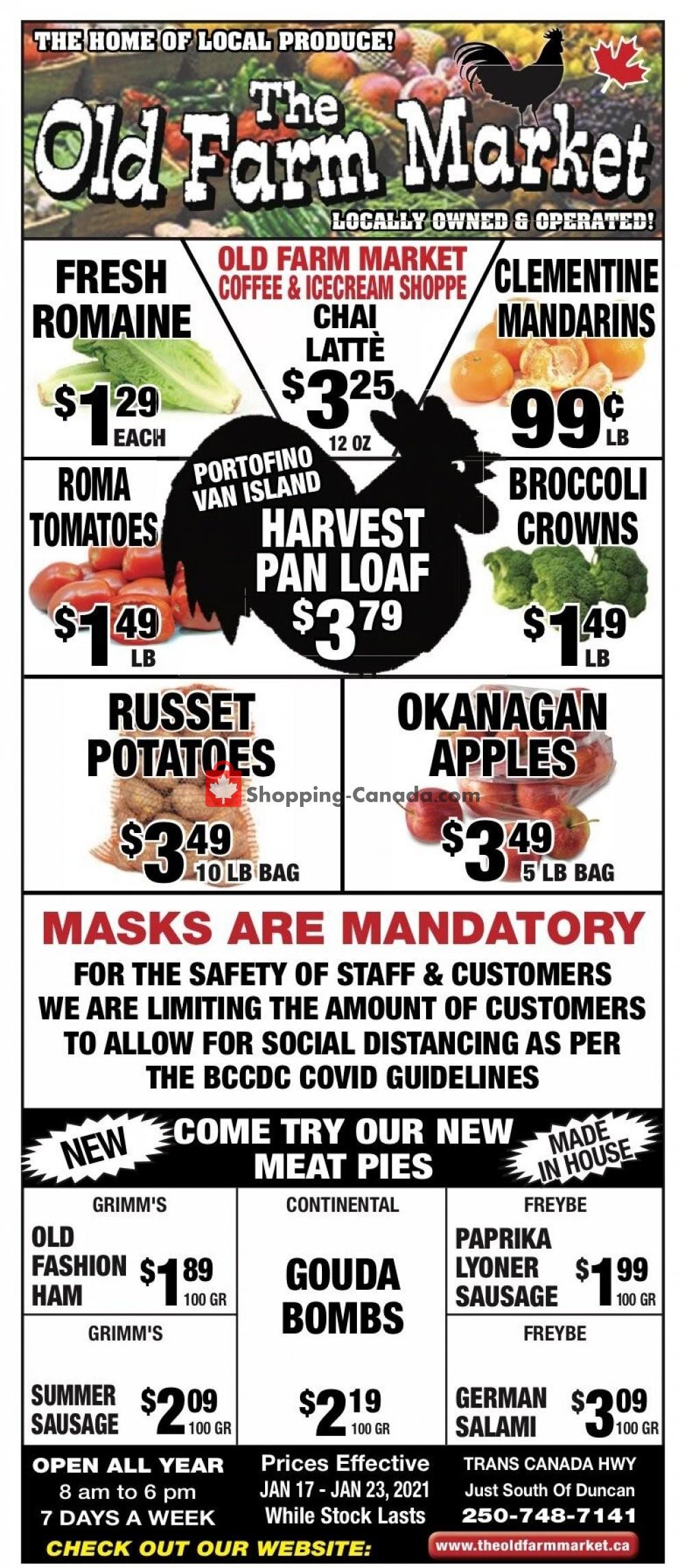 Flyer The Old Farm Market Canada - from Sunday January 17, 2021 to Saturday January 23, 2021