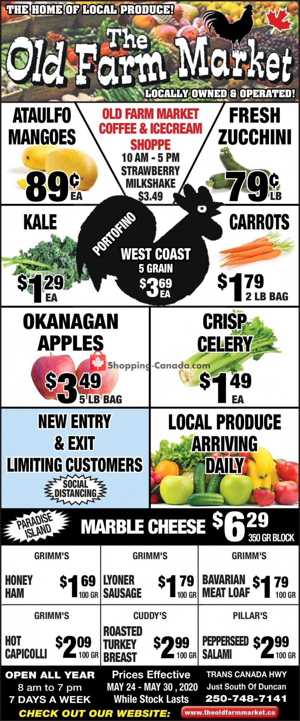 Flyer The Old Farm Market Canada - from Sunday May 24, 2020 to Saturday May 30, 2020